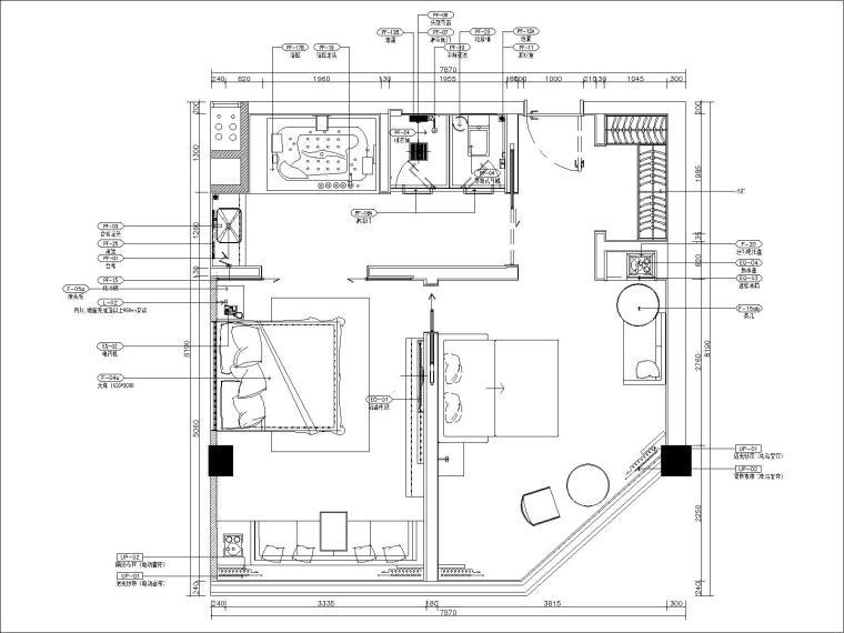 [北京]北京怀柔麗枫酒店设计方案+施工图(客房及电梯厅)