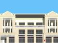 法式风格商业建筑模型设计