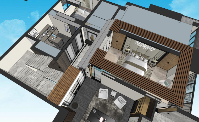 港式后现代住宅建筑模型设计(2018年)