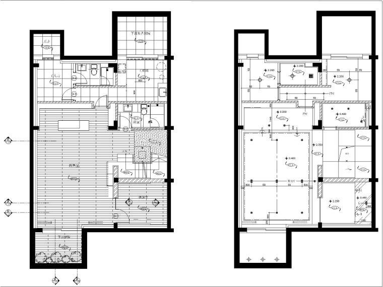 [上海]上海汤臣38河D型4层别墅装修样板房室内装修施工图