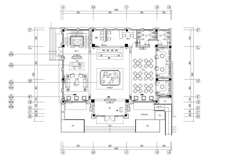 [上海]HWCD-浦东新区唐镇D-03-05a地块住宅项目售楼处内装施工图