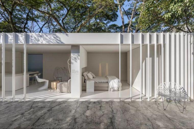 2个集装箱拼成一室一厅,60㎡的极简白实在太美了!