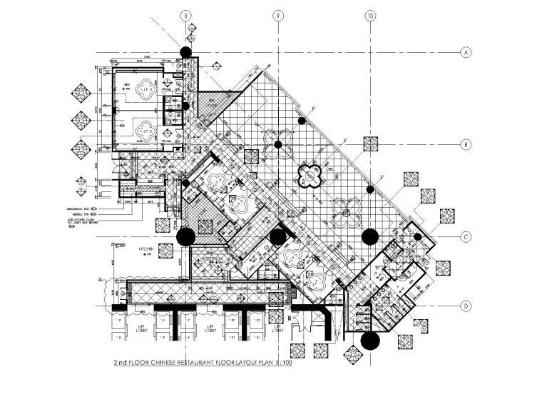 [澳门]梁志天—澳门8餐厅室内装修全套CAD施工图