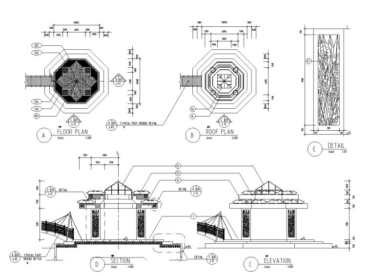 ITKE研究展亭景观资料下载-景观细部施工—亭廊花架