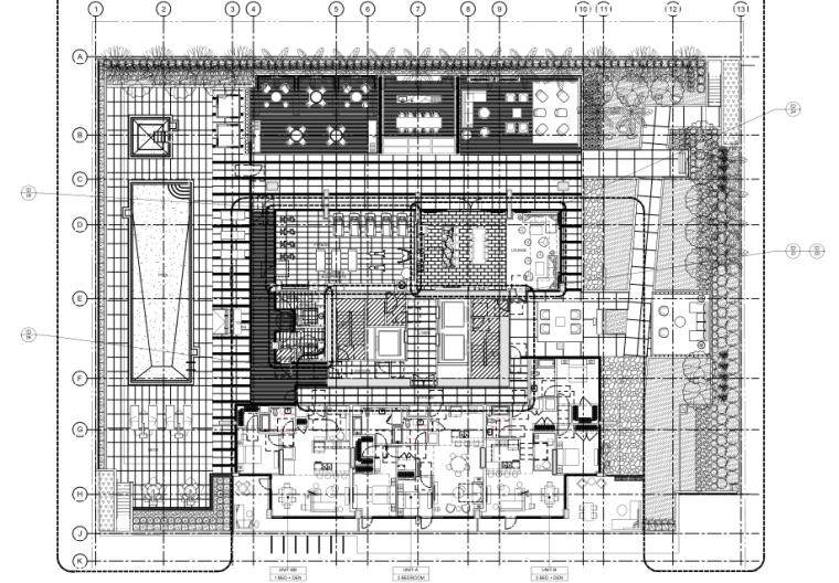 [美国]HBA-洛杉矶Hope街高档公寓楼深化方案+PDF施工图+物料书