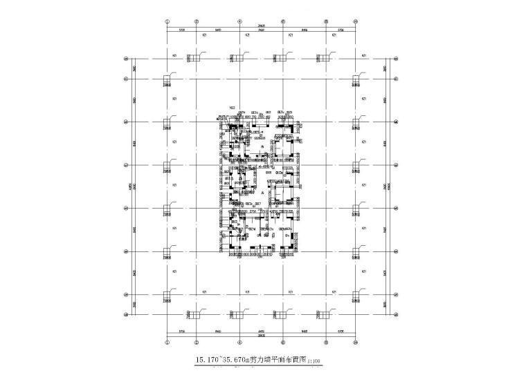 23层框筒结构写字楼全套施工图(建筑结构水暖电)