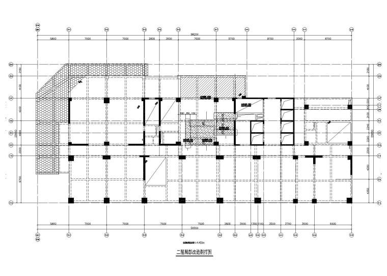 [成都]32层钢混框剪商业楼加固结构施工图(2012)
