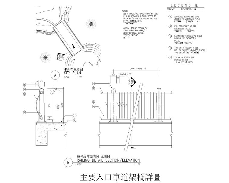 76套围墙栏杆栅栏CAD详图(1-40)