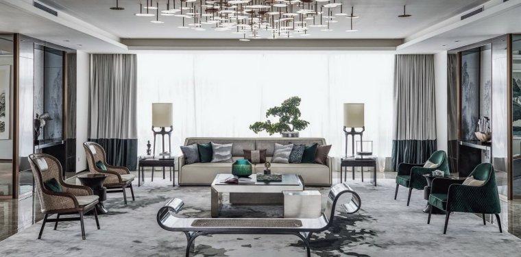 上海莘庄中心办公室_现代餐桌椅组合_现代客厅_新中式客厅3D模型