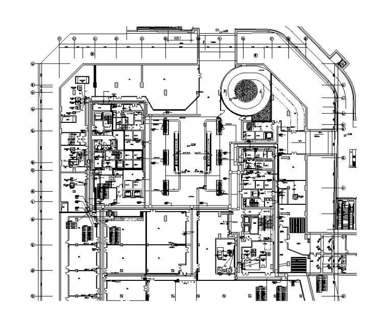 北京商业办公及住宅项目强电施工图