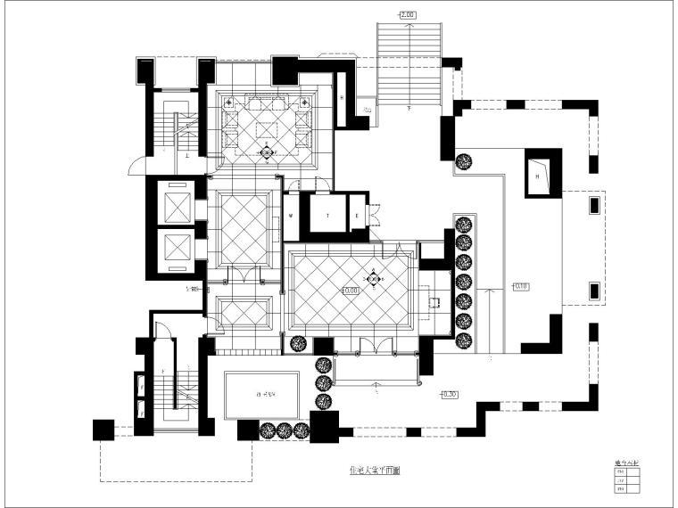 [深圳]梁志天—深圳香蜜湖1號样板间室内装修CAD施工图+效果图