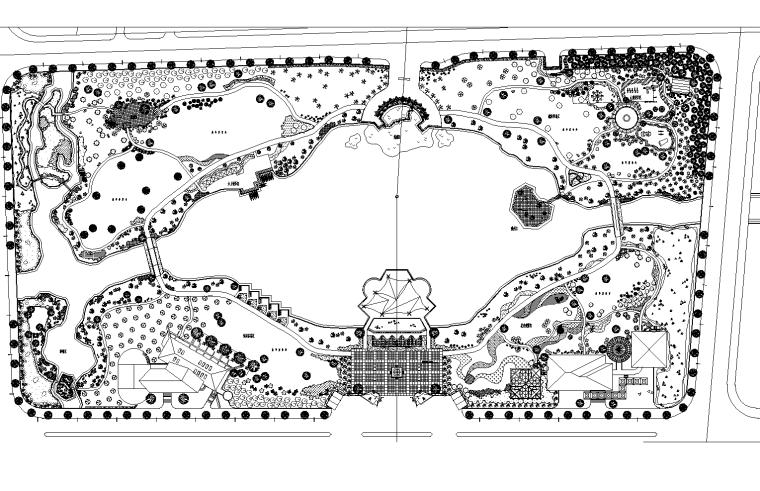 [浙江]嘉兴秀洲公园景观施工图(含结构,水电,植物配置等)