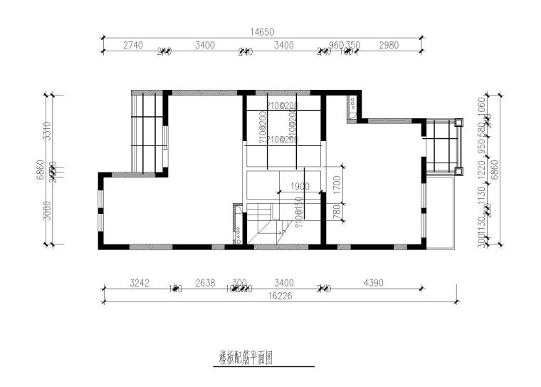 剪力墙别墅墙体拆除开窗洞新建楼板加固图-楼板配筋平面图