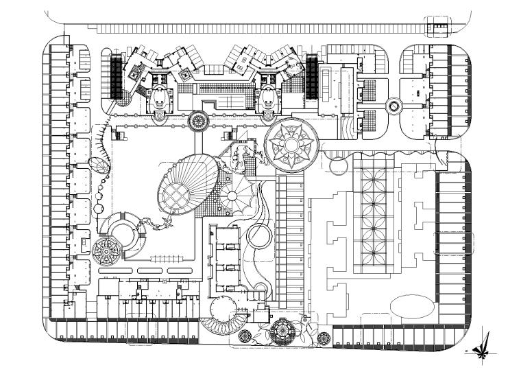 [深圳]后海金和花园居住区景观设计CAD施工图