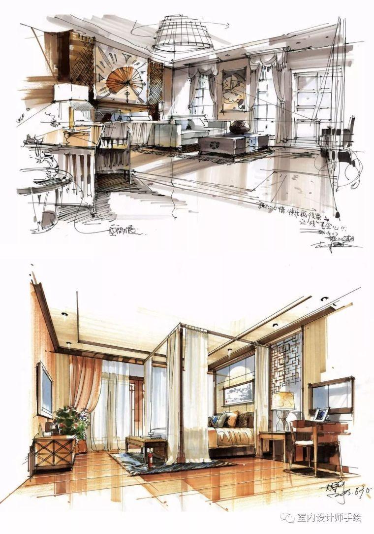 [分享]室内设计手绘效果图欣赏