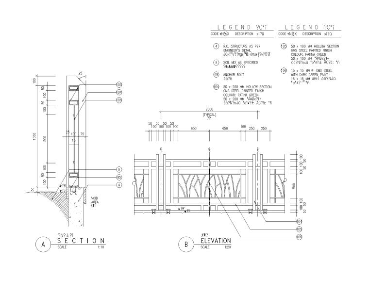 76套围墙栏杆栅栏CAD详图(41-76)
