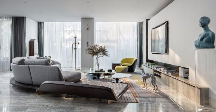 地产设计师黄全的家-现代客厅3D模型