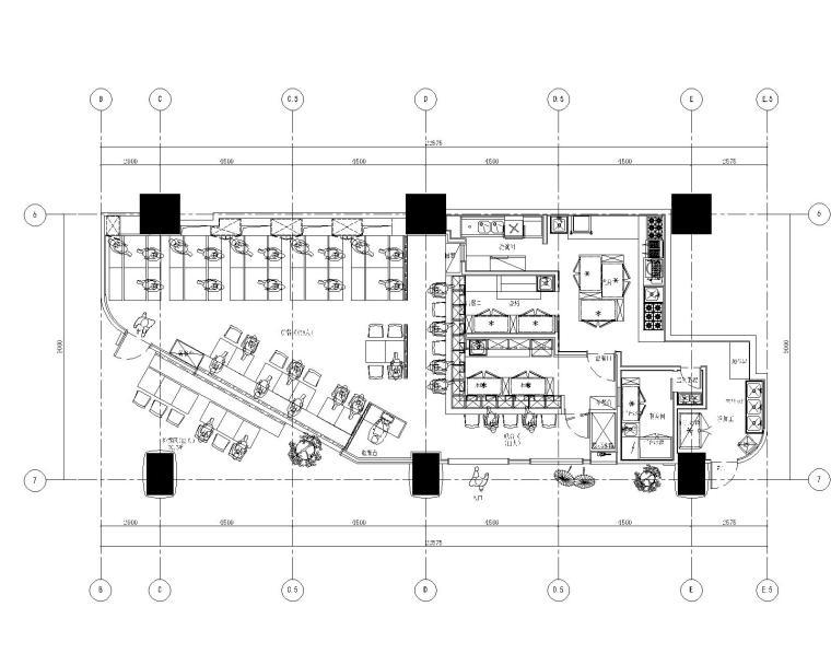 CHAO巢羽-上海舞伎居酒屋室内装修施工图+效果图SU模型+实景