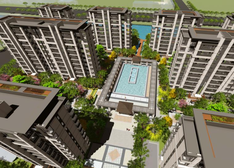 [浙江]中式风格居住区建筑方案文本(拓维设计|PPT+141页)