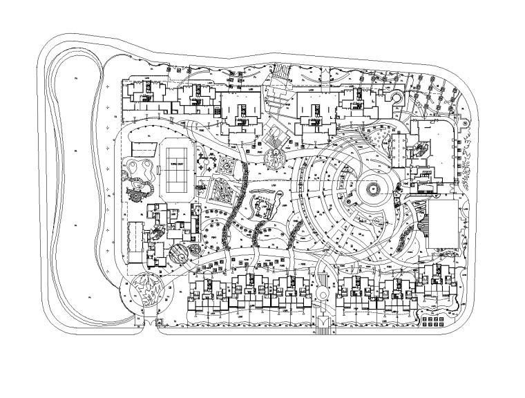 [广州]金碧华府巴比伦花园欧式居住区景观CAD施工图