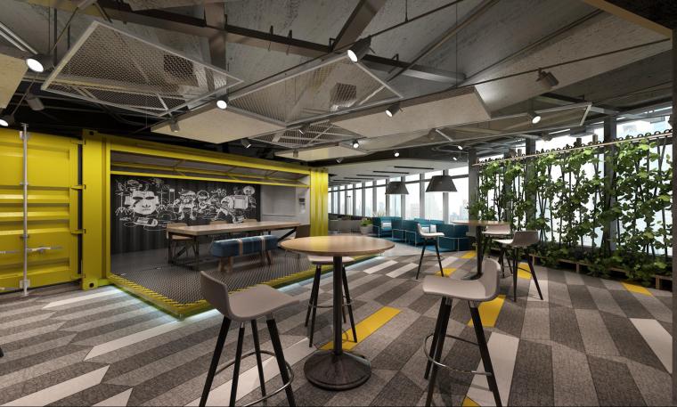 [上海]Spark Architects-阿迪达斯上海新办公楼两版PPT设计方案+效果图