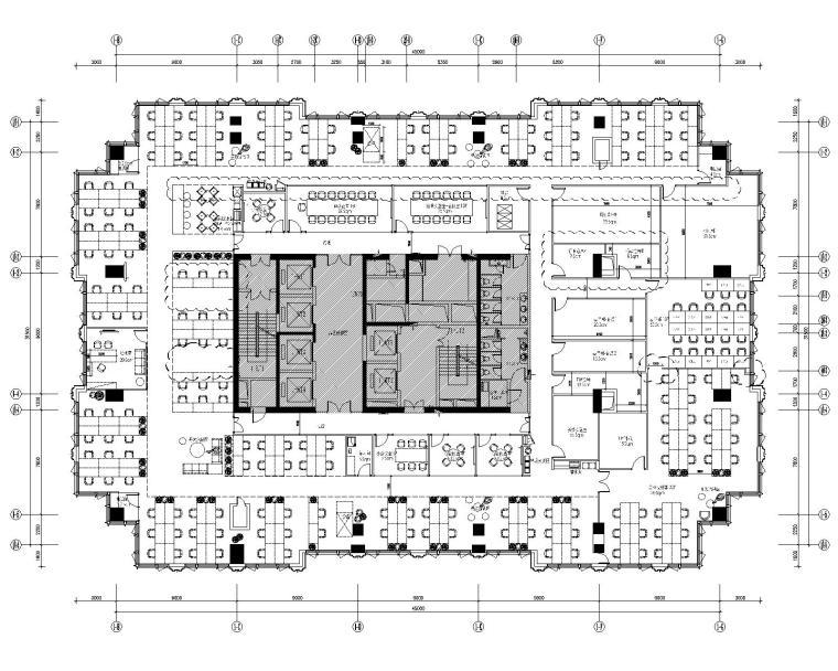 [广东]BSD-小米深圳研发中心办公室装修CAD施工图+效果图15张