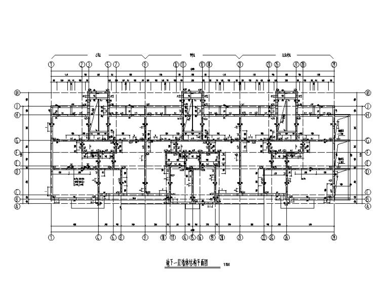 [北京]18层高层住宅楼剪力墙结构施工图(平板式筏基)