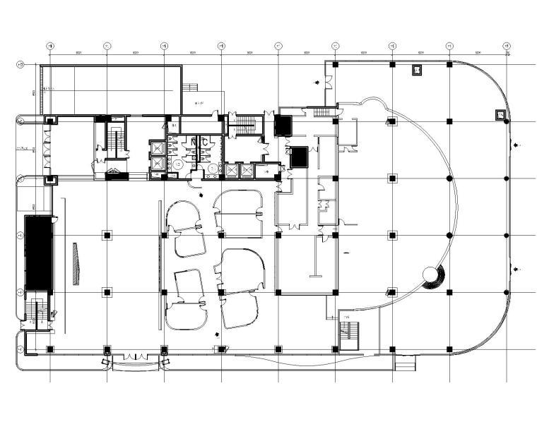 金螳螂Gensler-上海山鹰国际办公室装修CAD施工图+效果图+物料表