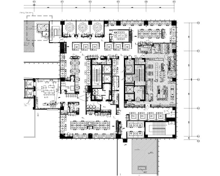 [湖南]海底捞火锅餐厅长沙华创国际广场店室内装修CAD施工图+效果图+材料表