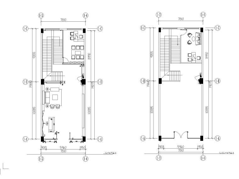 现代洗浴会所足疗馆空间设计施工图