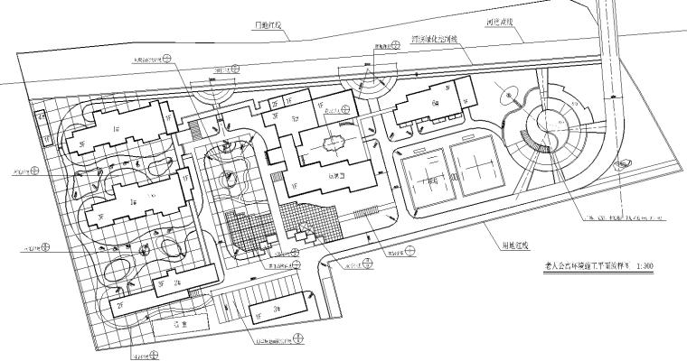 [福建]鸿辉名仕嘉苑居住区景观全套CAD施工图