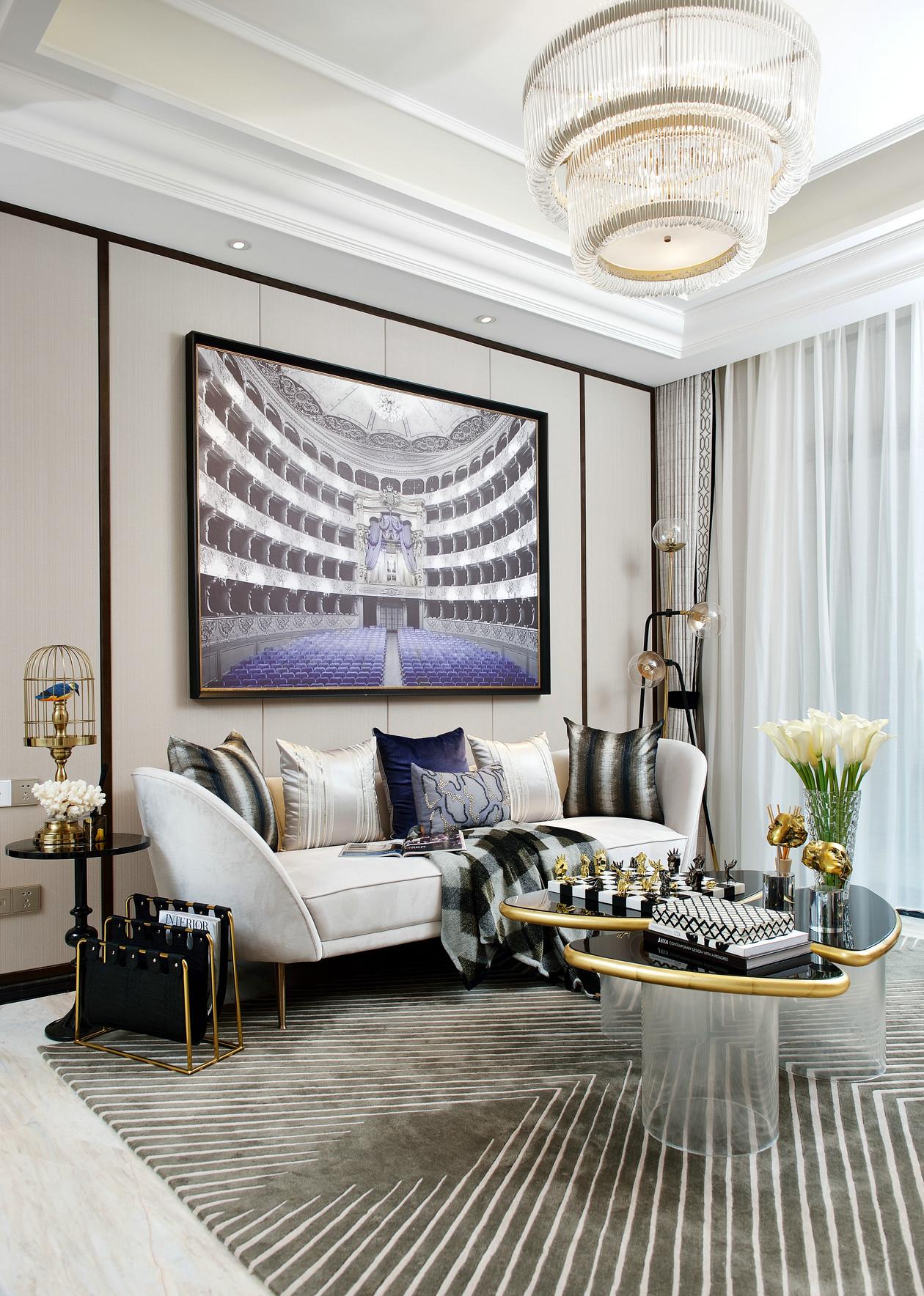 南昌国博二期叠墅样板房客厅卧室3D模型(内含4套模型)