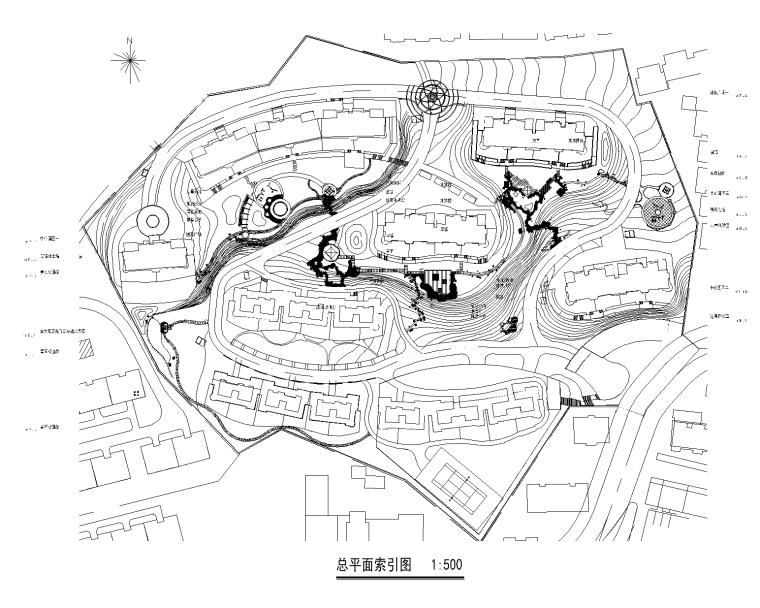 [山东]威海阳光花园居住区景观全套CAD施工图