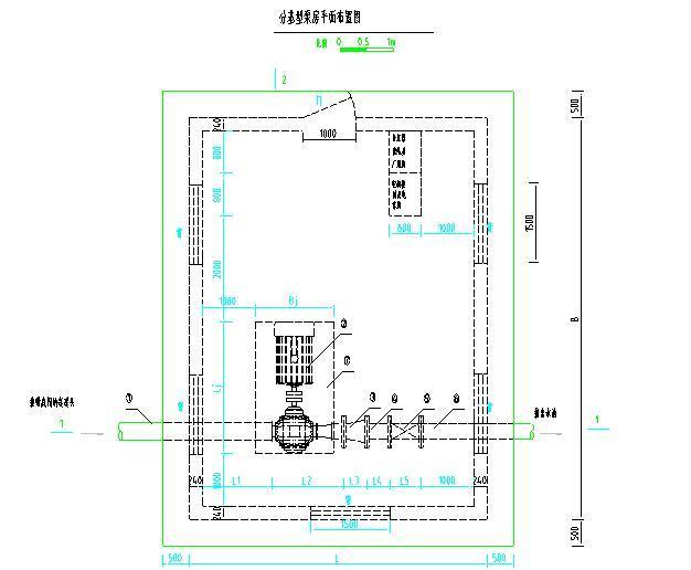 农田水利渠道高效节水灌溉项目施工图(大量图片)-泵房泵站典型设计图