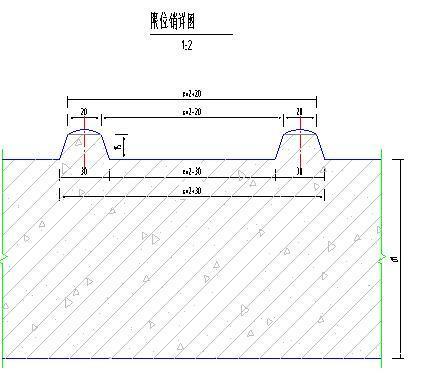农田水利渠道高效节水灌溉项目施工图(大量图片)-限位销详图