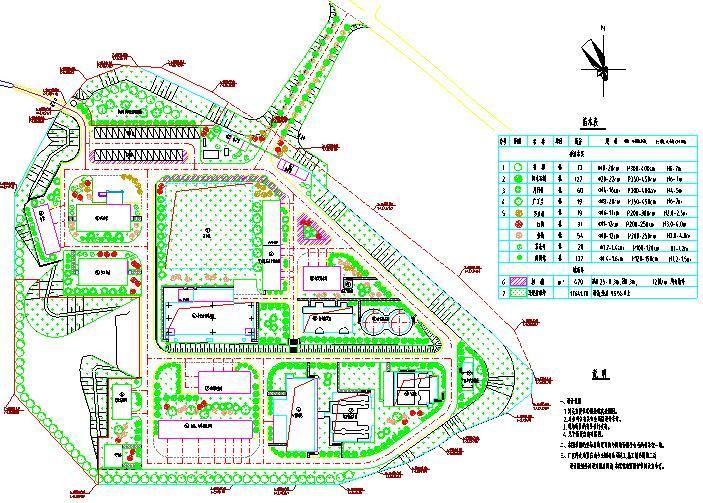 [福建]水厂绿化工程图纸(含工程量清单)
