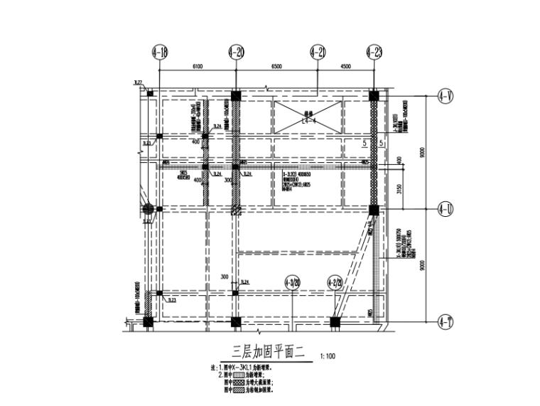框架结构电影院加固施工图(2016)