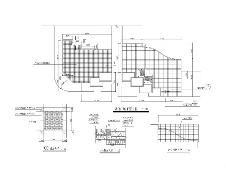 15套体育健身设施CAD施工图