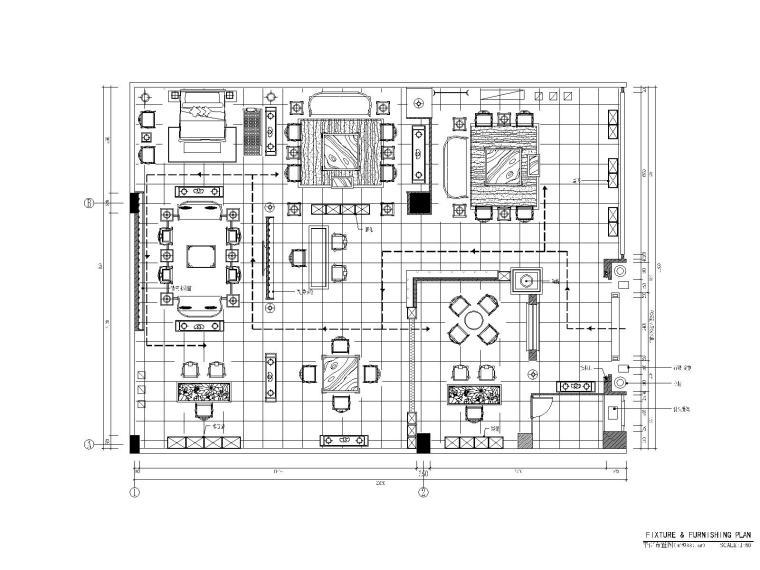 [北京]品川—北京大家之家店门面丨CAD平面图+效果图