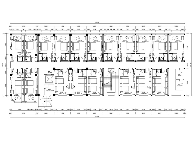 上海青浦亚朵轻居酒店室内装修CAD施工图+PPT设计方案两版+效果图(附电气图)