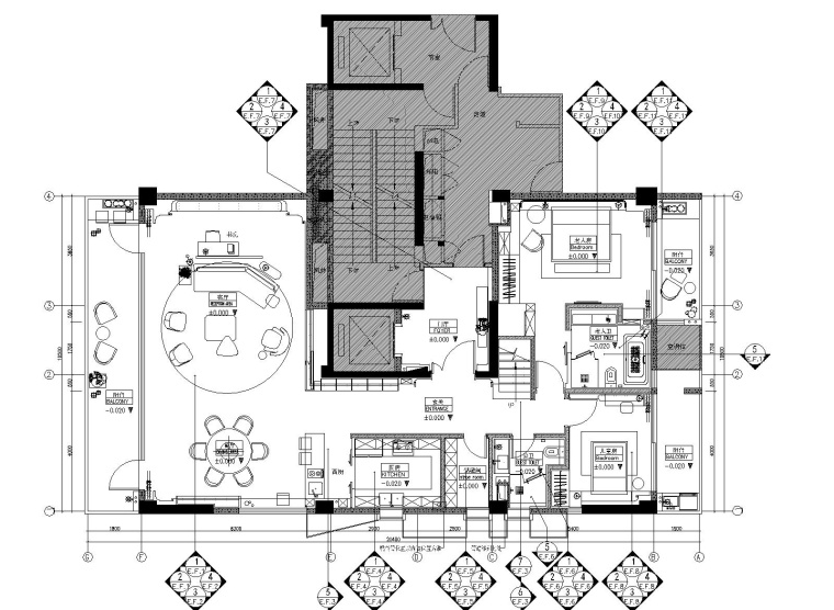 [浙江]琚宾HSD-宁波钓鱼台A+B户型样板间CAD施工图+草图模型+官方摄影