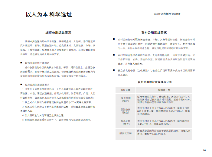 [浙江]丽水市公共厕所建设指南(PPT,40页)