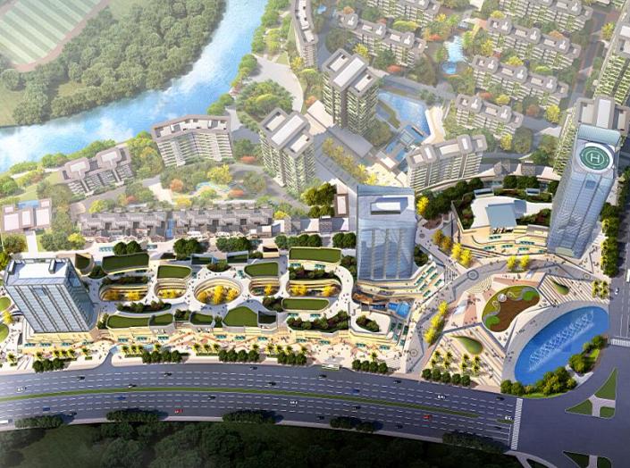 现代商业街两层资料下载-[四川]巴中云城2#、3#地块商业街建筑方案设计文本