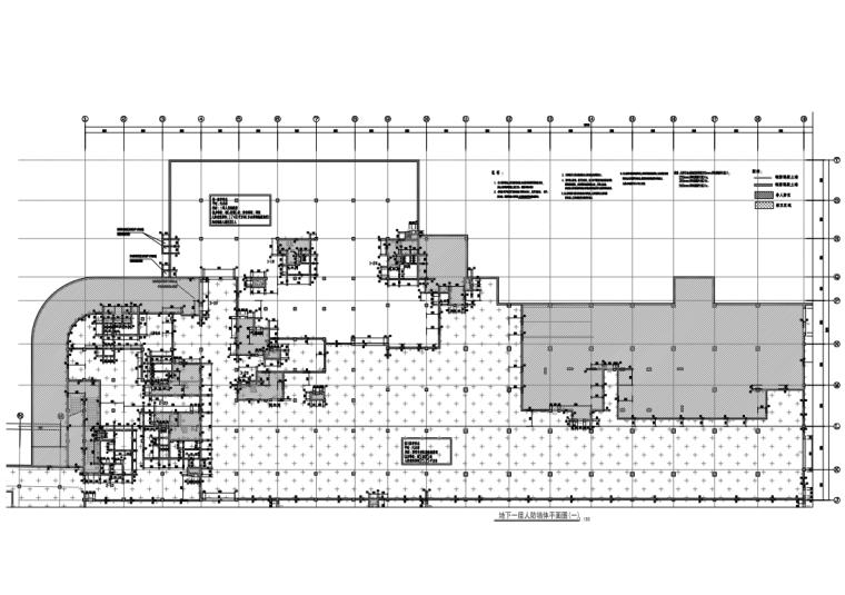 [广州]产业园及住宅项目人防地下室结构图