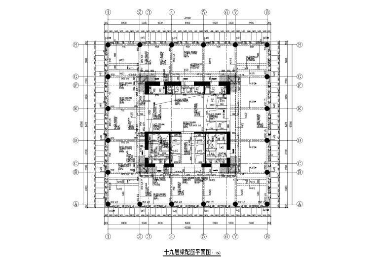 55层超高层框筒结构商业办公综合楼全套施工图(建筑结构给排水幕墙节能人防)