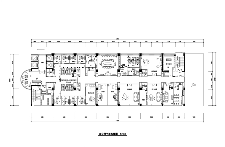 [武汉]武汉矿业公司办公楼装饰施工图+模型
