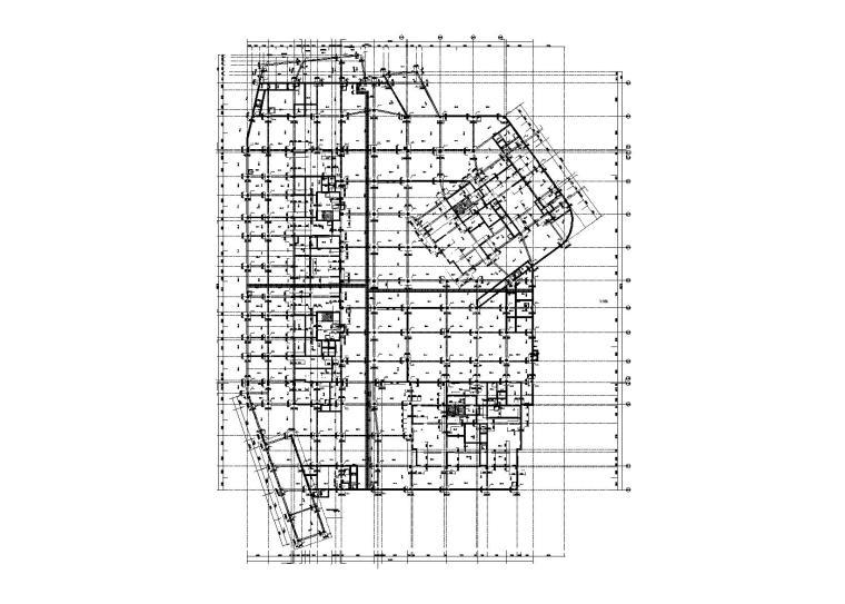 艺术小镇项目人防地下室结构施工图2016
