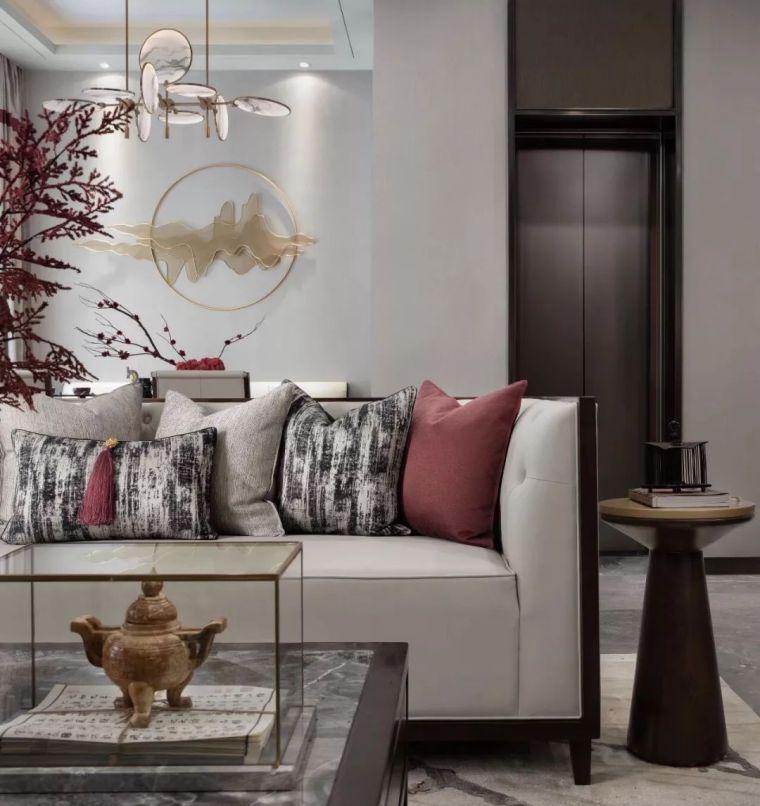 优雅中国红,400㎡新中式别墅