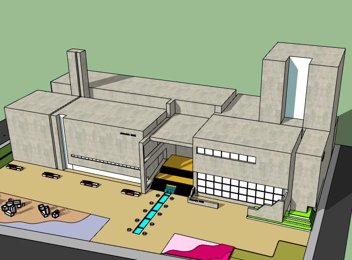 美术馆设计模型资料下载-天津美术馆建筑模型设计