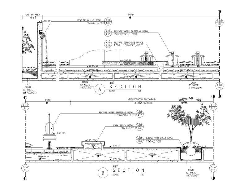 47套喷水涌泉CAD施工图(21-47)
